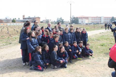 los escolares con el alcade de Valladolid